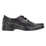 Sapato Social em Couro Infantil cor Preto de Amarrar