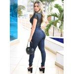Calça Jeans Feminina Cintura Alta Empina Bum Bum Azul