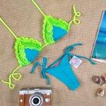 Biquíni Cancun: top cortininha + calcinha de lacinho