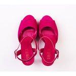 Sandália tira frontal pink