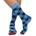 Meia SOCKS ON THE BEAT LumberJack Azzurra