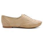 Sapato Social Feminino Top Franca Shoes Oxford Confort Areia