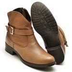 Bota Country Montaria Feminina Diconfort Calçados Caramelo