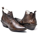 Bota Country Masculina Bico Fino Top Franca Shoes Marrom
