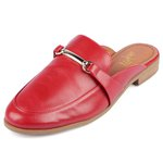 Mule Trivalle Shoes Calf Scarlet