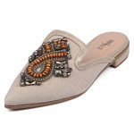 Mule Trivalle Shoes Metal Nude