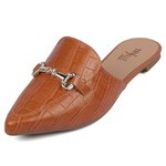 Mule Trivalle Shoes Croco Marrom
