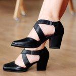 Sapato Social Feminino Couro Preto