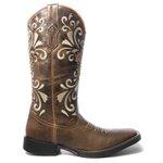 Bota Texana Feminina - Splash Café - Roper - Bico Quadrado - Cano Longo - Solado Freedom Flex - Vimar Boots - 13053-B-VR