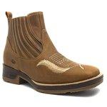 Botina Masculina - Dallas Bambu - Roper - Bico Quadrado - Cano Curto - Solado Strong Shock - Vimar Boots - 82088-A-VR