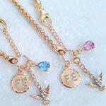 Pulseira em Ouro 18k - Pingentes de Fé, Espírito Santo com detalhe em Ouro 18k branco e Zircônia