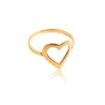 Anel em Ouro 18k amarelo de Coração