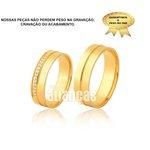 Alianças de Ouro 18k com diamantes 10,00 gramas o par