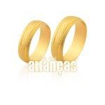 Alianças de Noivado e Casamento em Ouro Amarelo 18k 0,750 FA-1131