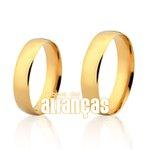 Alianças de Noivado e Casamento em Ouro Amarelo 18k 0,750 FA-163