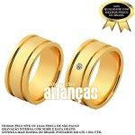 Alianças de Noivado e Casamento em Ouro Amarelo 18k 0,750 FA-1137