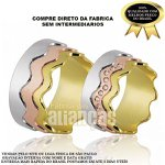 Alianças de Noivado e Casamento em Ouro Amarelo 18k 0,750 FA-687