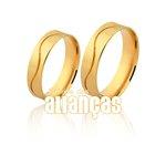 Alianças de Noivado e Casamento em Ouro Amarelo 18k 0,750 FA-1039