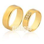 Alianças de Noivado e Casamento em Ouro 18k 0,750 FA-1105-Z