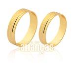 Alianças de Noivado e Casamento em Ouro Amarelo 18k 0,750 FA-1551