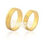 Alianças de Noivado e Casamento em Ouro Amarelo 18k 0,750 FA-975