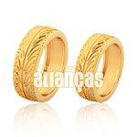 Alianças de Noivado e Casamento em Ouro Amarelo 18k 0,750 FA-983