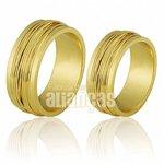 Alianças de Noivado e Casamento em Ouro Amarelo 18k 0,750 FA-264
