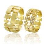 Alianças de Noivado e Casamento em Ouro Amarelo 18k 0,750 FA-577-Z
