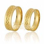 Alianças de Noivado e Casamento em Ouro Amarelo 18k 0,750 FA-644