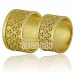 Alianças de Noivado e Casamento em Ouro Amarelo 18k 0,750 FA-664