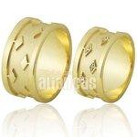 Alianças de Noivado e Casamento em Ouro Amarelo 18k 0,750 FA-689