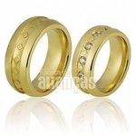 Alianças de Noivado e Casamento em Ouro Amarelo 18k 0,750 FA-707