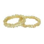 Anel Zircônia Lesprit LA04531WGL Dourado Cristal