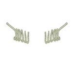 Brinco Ear Cuff Zircônia Lesprit LB11441CL Ródio Cristal