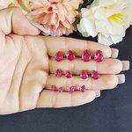 Kit De Mini Brincos Gota Grafite Pink