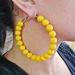Argola Acrílica Grande Amarela