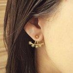 Brinco Zircônia Pequeno Ear Jacket Carina Dourado