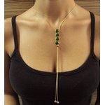 Colar Delicate Gravatinha Cora Dourado Verde