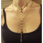 Colar Delicate Diana Dourado Verde