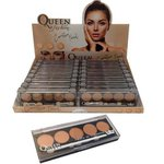 Display Queen Com 16 Unidades Paleta Corretivo Facial Matte 5 Cores *