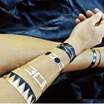 Tatuagem Metálica Flash Tattoo Tribal Black