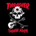 CAMISETA THRASHER SKATE ROCK BLACK