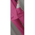 blusa Cirúrgica em Microfibra Gola V Manga Curta - Vinho