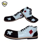 Sapato de Palhaço Infantil Branco/Preto Naipes Baralho Ref 511