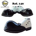 Sapato de Palhaço Preto com Detalhe Branco Ref 140
