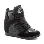 Tênis Sneaker LandFeet Cris Piza 02 Preto Cobra