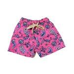 Paisley Rosa - Shorts Infantil