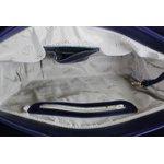 Bolsa Artesanal Tiracolo Navy 100% Em Couro J.Gean