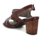 Sandália Em Couro Vermelho J.Gean BH0006