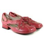 Sapato Em Couro Loretta Framboesa
